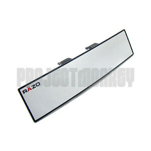 Razo Rg23 300mm Convex Wide Rear View Mirror Clip on Universal Fitment Carmate