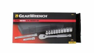 Gearwrench 80558 13 Piece 3 8 Drive 6 Point Metric Socket Set