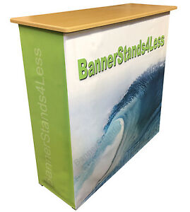 Custom Podium Table Pop Up Counter Stand Trade Show Display 40 Tall L117