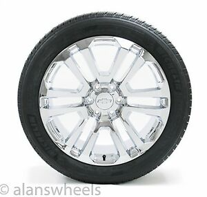 New Ck158 Chevy Silverado Avalanche Chrome 22 Wheels Rims Mich Tires Tpms Lugs