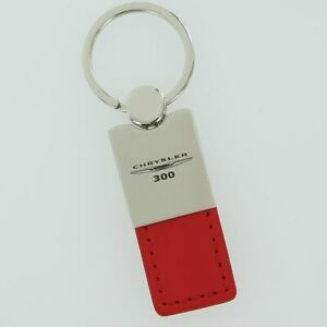 Chrysler 300 Red Leather Key Ring
