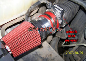Red For 1999 2006 Chevy Silverado 1500 4 8 5 3 6 0 Air Intake Kit Filter