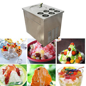 Fried Ice Cream Machine Ice Cream Yogurt Roll Maker 1 Pan Six Buckets Hot 740w