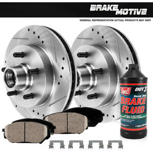 Front Brake Rotors And Ceramic For Ford F150 E150 1987 1988 1989 1990 1992 1993