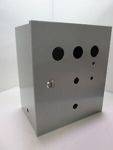 Wiegmann N1c121406ww 14 x12 x8 Wall Mount Electrical Enclosure Cabinet holes
