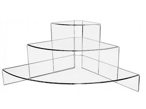 Clear Acrylic Triangle Shaped Acrylic Risers Set Of 3 Bakery Retail Home