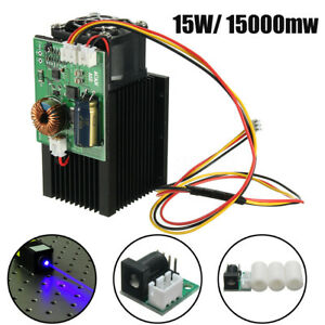 15w 15000mw High Power Blue Light Laser Head Diy Engraving Module Diode Engraver