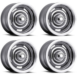Vision Wheel 55 5783 Set Of 4 Silver 55 Rally 15x7 6 Offset 6x5 5 Rims