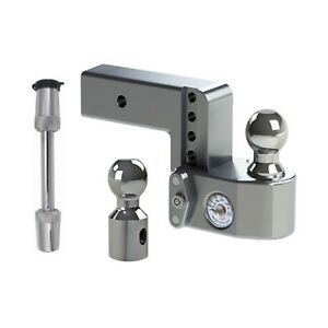 Weigh Safe Adjustable 4 Drop Hitch Ball Mount W Tongue Weight Scale