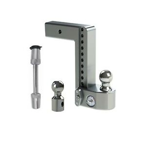 Weigh Safe Adjustable 10 Drop Hitch Ball Mount W Tongue Weight Scale