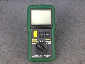 Greenlee 5882 1kv Digital Analog Multimeter Megohmmeter meter Only