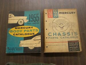Oem Ford 1955 Mercury Master Parts Books Body Chassis Monterey Montclair 1954