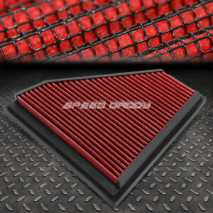 For 06 13 Bmw E90 3 Series Red Reusable Washable High Flow Drop In Air Filter