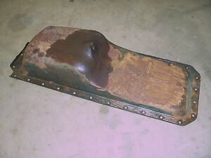 1949 1952 Pontiac Silver Streak 6 Cylinder Engine Motor Oil Pan Cover Rat Rod
