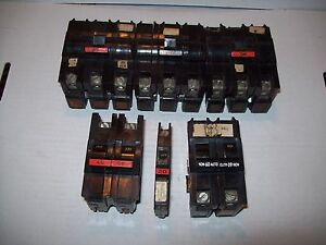 Lot Fpe Federal Pacific Electric 123p Stab 20 40 50 60 70a Circuit Breakers P882