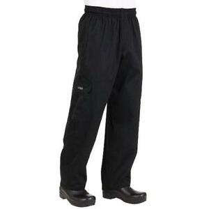 Chef Works J54 Black Cargo Pants All Sizes
