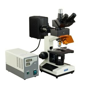 Omax 40x 1600x Epi fluorescence Biological Trinocular Compound Microscope