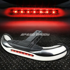 1 25 2 Receiver Chrome Trailer Towing Tailgate Hitch Cover Led Rear Step Bar