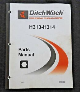 Ditch Witch Rt95 H313 H314 Digging Attachment Parts Manual Trencher Trenching Nm