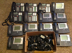 Used Office Phone System Cisco 7940 Nortel Networks T7316e W Accessories L k