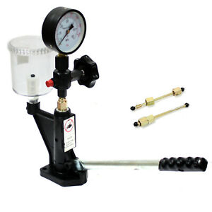 Fuel Test 400bar 8000psi Diesel Injector Nozzle Tester W Dual Scale Gauge