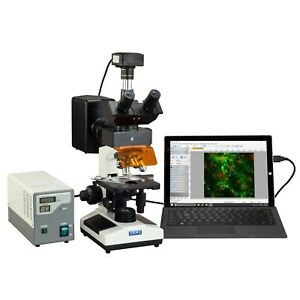 Omax 40x 2500x Usb3 18mp Digital Epi fluorescence Compound Trinocular Microscope