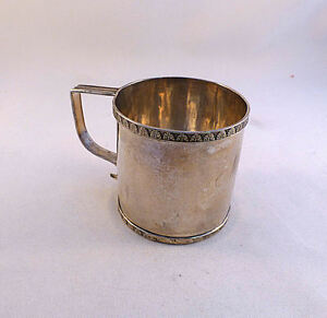 Coin Silver William Braisted Heyer 1798 1828 Ny Ny Cup 2 5 8