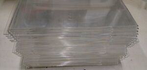 Slatwall Gridwall Acrylic Vertical Sign Holder Clear 11 X 8 1 2 Lot Of 25