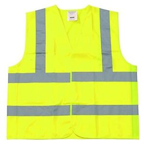 Yellow Polyester Fabric Safety Vest 4xl Class Ii Silver Reflective Tape 150 Pcs