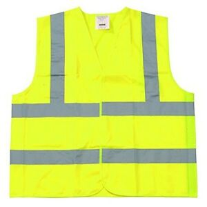 Yellow Polyester Fabric Safety Vest 6xl Class Ii Silver Reflective Tape 50pcs