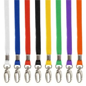 50x Premium Breakaway Safety Lanyards And Swivel Metal Clip For Id Card Holder