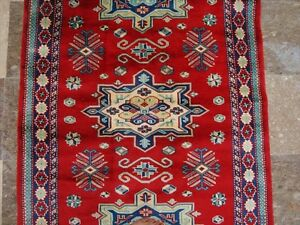 Red Shirvan Kuba Kazak Fine Veg Dyed Hand Knotted Area Rug Wool Carpet 5 X 3