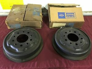 Nos 1960 Ford Truck Front Brake Drums C0tz 1125 a F 100