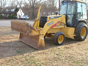 Very Nice John Deere 310 Se 2wd Enclosed Cab Cold A c Skip Loader