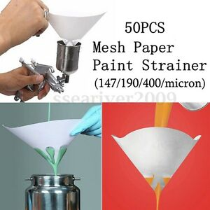 50x 147 190 400 Micron Paper Nylon Paint Strainer Filter Purifying Straining Cup