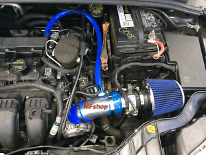 Blue For 2012 2014 Ford Focus 2 0l L4 Non Turbo S Se Sel Titanium Air Intake