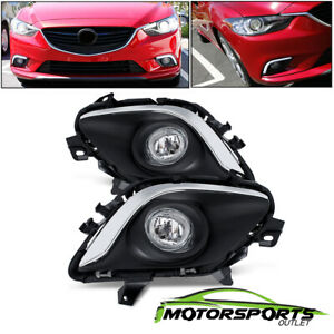 Glass Lens Fit 2014 2016 Mazda 6 Fog Lights Bumper Lamps Pair W Switch
