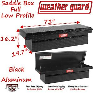 300106 53 01 Weather Guard Defender Black Aluminum Low Profile 71 Truck Toolbox