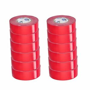 24 Rolls 2 Inch X 60 Yards Duct Tape Red Color Economy Grade 9 Mil