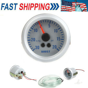 Car Turbo Boost Vacuum Gauge Meter 2 52mm 0 20psi 0 30in Hg 12v Us Stock V5q4