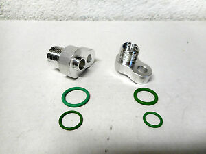 Sd7b10 Straight Ac Compressor Pad Mount Peanut Fitting Adapters 8 10 W Orings