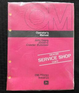 1976 John Deere 450 Jd450 c Tractor Crawler Loader Dozer Operators Manual Sealed