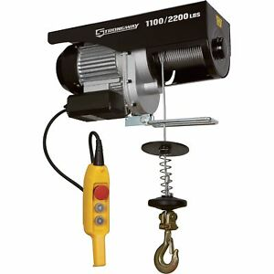Strongway Electric Cable Hoist 1 100 lb 2 200 lb Capacity
