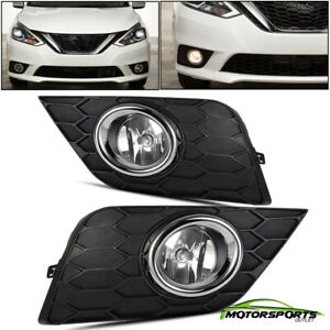 For 2016 2017 Nissan Sylphy sentra Bumper Fog Lights switch bulbs wiring Harness