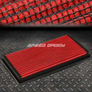 For 95 05 Chevy Blazer 4 3 Red Reusable washable High Flow Drop In Air Filter
