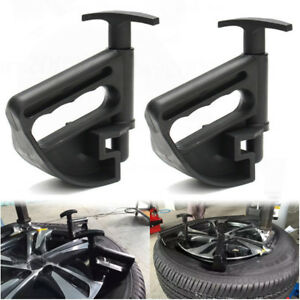 2pcs Motorcycle Tire Changer Wheel Rim Removal Bead Clamp Drop Center Tool