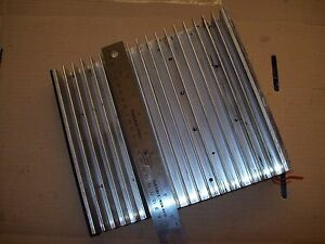 Large Power Semiconductor Aluminum Finned Heatsink 9 In X 9 In High P1130