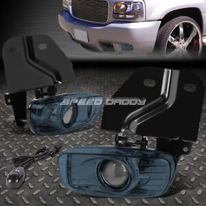 For 99 00 Escalade yukon 5 7 Smoked Lens Oe Bumper Fog Light Lamp Pair switch