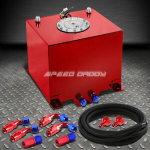 5 Gallon 18 8l Red Aluminum Fuel Cell Gas Tank level Sender nylon Fuel Line Kit
