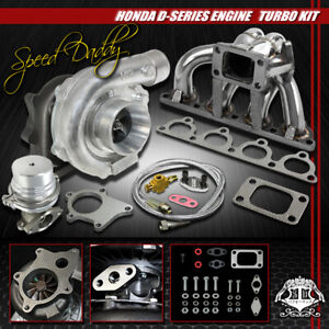 T04e 5 pc Turbo Kit Turbocharger ss Manifold wg 88 00 D15 d16 Civic crx del Sol